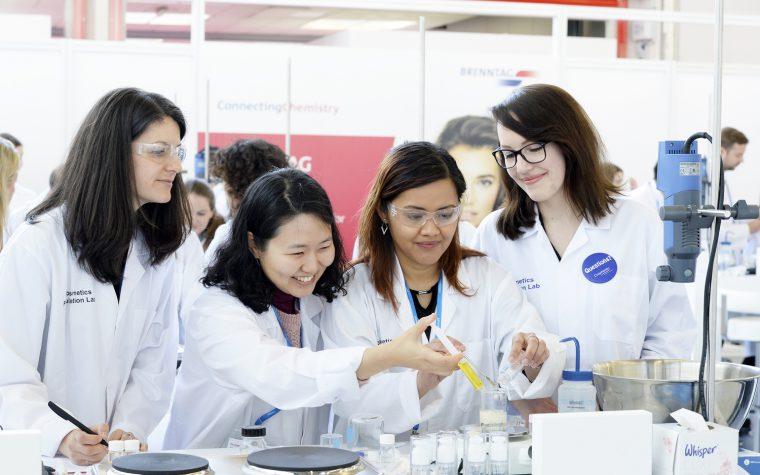 R&D staff in the Formulation Lab