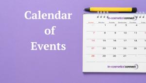 Calendar of in-cosmetics events