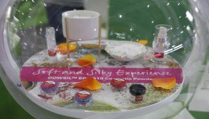 Innovation Zone display at in-cosmetics Asia