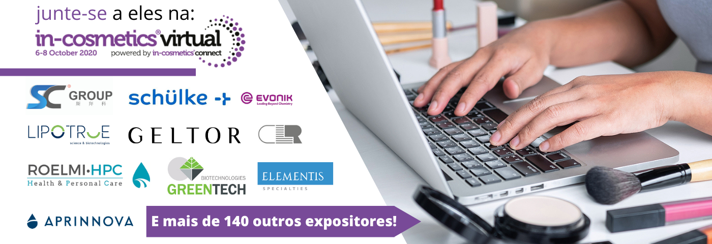 Lista de Expositores – Conheça as empresas participando da in-cosmetics Virtual