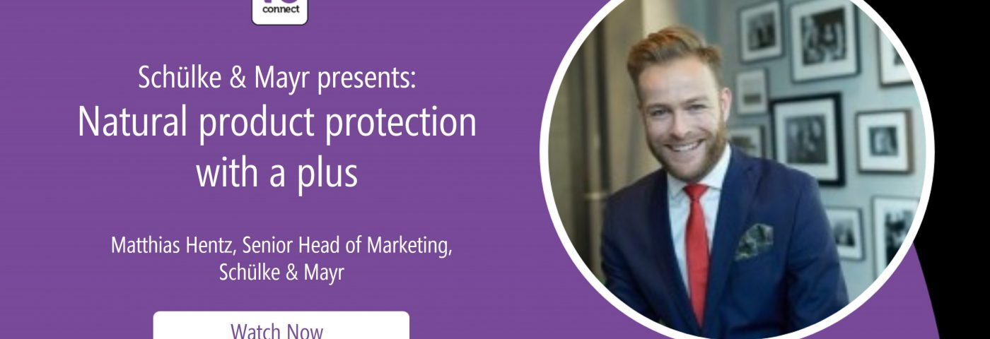 Schülke & Mayr presents: Natural product protection with a plus (in-cosmetics Virtual Webinar)