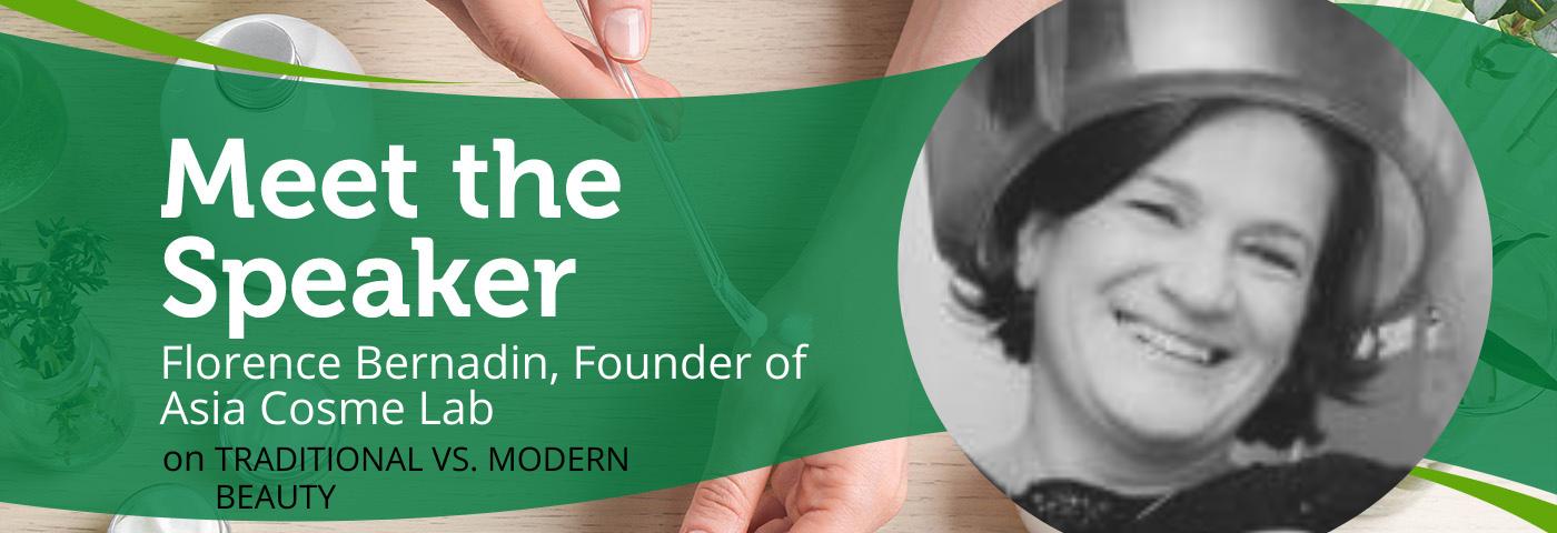 Traditional vs. modern beauty with Florence Bernardin | Meet the speaker