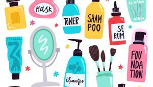 illustrations of cosmetics