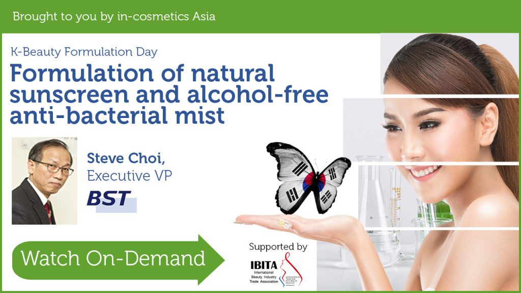 Formulation of natural sunscreen and alcohol-free anti-bacteria mist