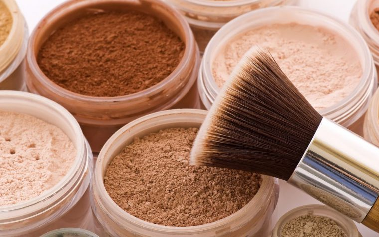 Different shades of face powder