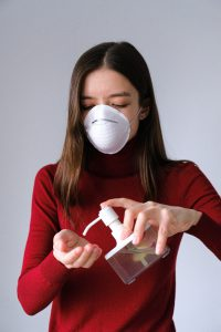 wearing mask and washing hands