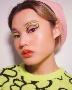 Maquiagem inspirada em cartoon