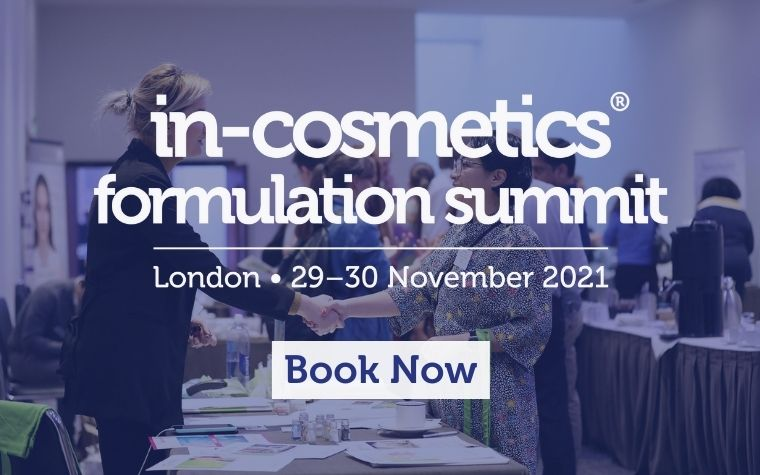IN-COSMETICS FORMULATION SUMMIT – LIVE IN LONDON – 29 - 30 NOVEMBER